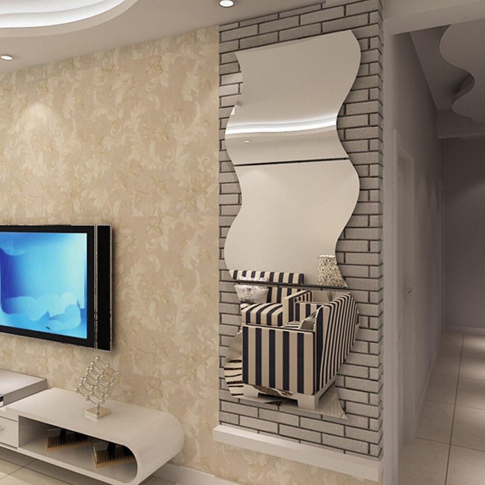 Umkleidekabine Spiegel Angebracht Heimtextilien 3D Dreidimensionale Spiegel  Wandaufkleber Diy Spiegelacryl Dekorative Aufkleber