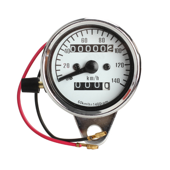 New Universal Motorcycle Mini Electronic Odometer Speedometer Gauge Speed Meter Night Light