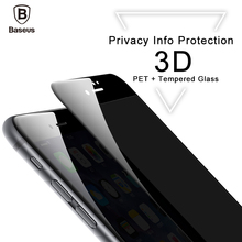 Baseus 3D Tempered Glass Screen Protector For iPhone 6 6s 8 8 Plus Glass For iPhone 7 7 Plus Privacy Protective Glass Film Front