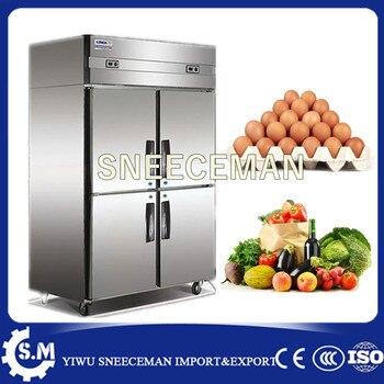 Commercial Kitchen Equipment Stainless Steel 4 Doors Upright Freezers 1