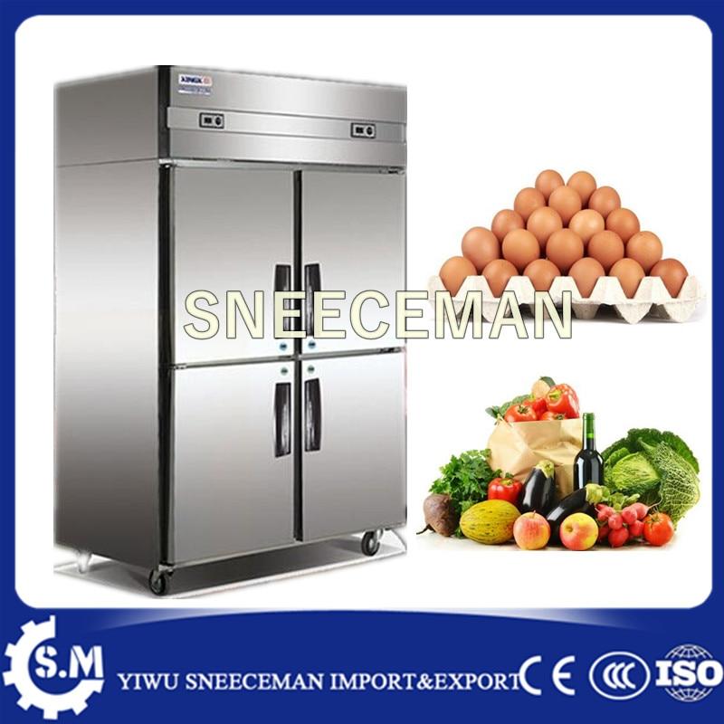Commercial Kitchen Equipment Stainless Steel 4 Doors Upright Freezers
