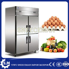 Comercial Equipamento de Cozinha Em Aço Inoxidável 4 Portas Congeladores verticais