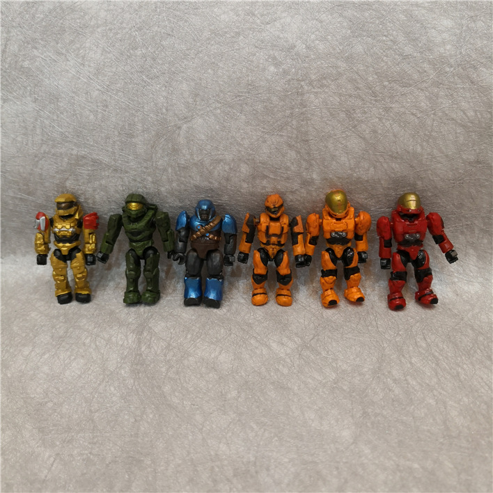 5 200 PCS 5CM Halo Wars Warriors Monsters Humans Spartans Games Covenants Guns Soldiers Building Blocks Bricks Toys for Children in Blocks from Toys Hobbies