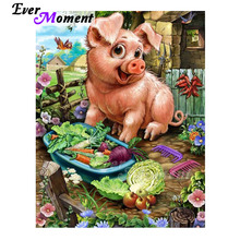 Ever Moment Diamond Painting Handmade Pig Vegetable Hobby Picture Of Rhinestone 5D DIY Diamond Embroidery Artwork ASF1658