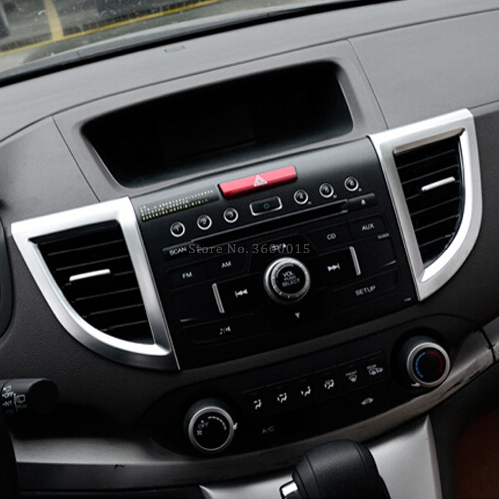 For Honda CRV 2012-2015 2.4L Interior Air Condition Adjustment Button Frame Trim