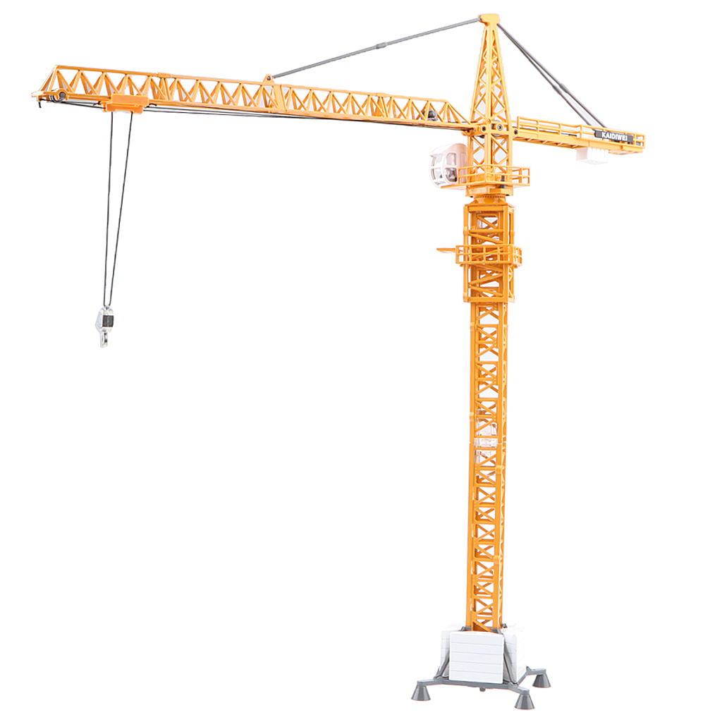1:50 Alloy Diecast Construction Site Equipment Tower Slewing Crane Model Toy large size alloy die cast model toy tower slewing crane truck vehicle miniature car 1 50 gift for kids