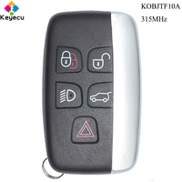 KEYECU Replacement Remote Control Car Key With 5 Buttons & 315MHz FOB for Jaguar XF XJ XK XE 2013 14 15 16 2017 KOBJTF10A