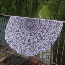 Mat Indian Polyester Material Mandala Round Tapestry Wall Hanging Towel Beach