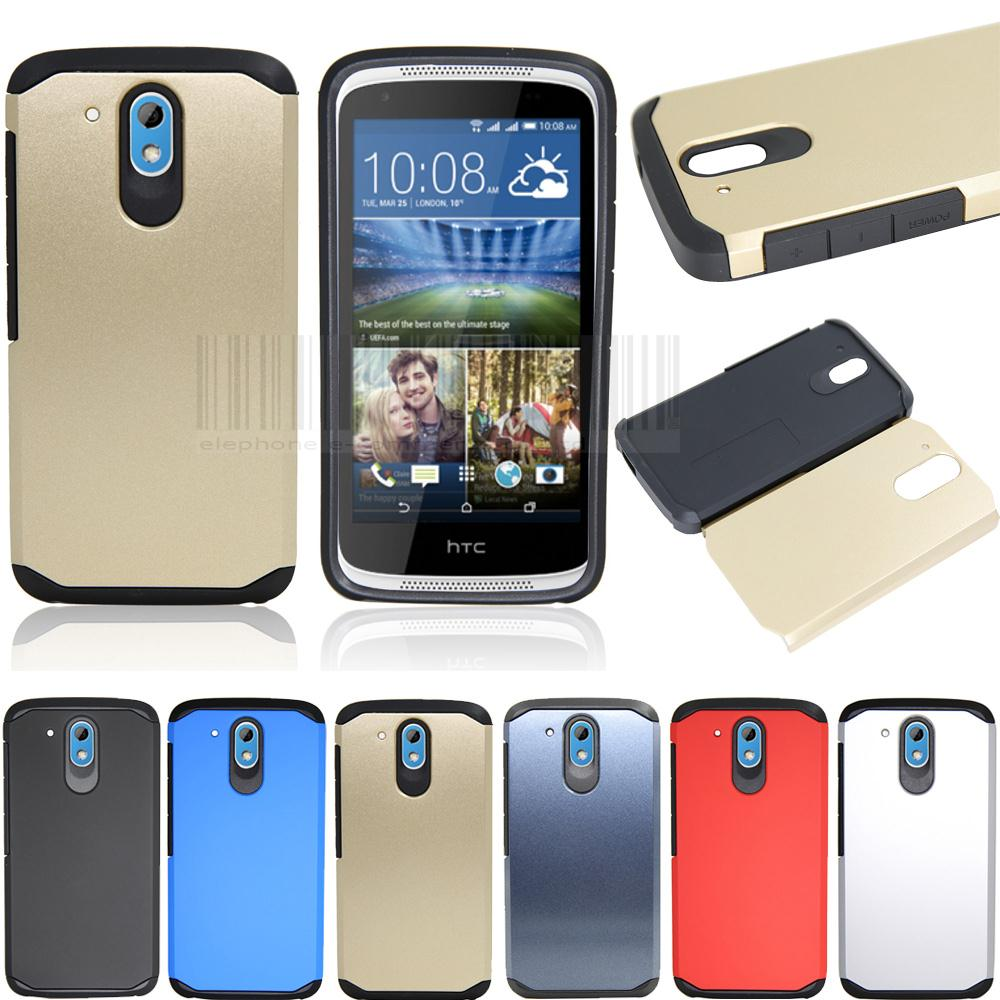 Free Shipping Slim Hybrid Shockproof Armor Case Hard Protective Cover For HTC DESIRE 526 526G 526G+ D526 326 326G