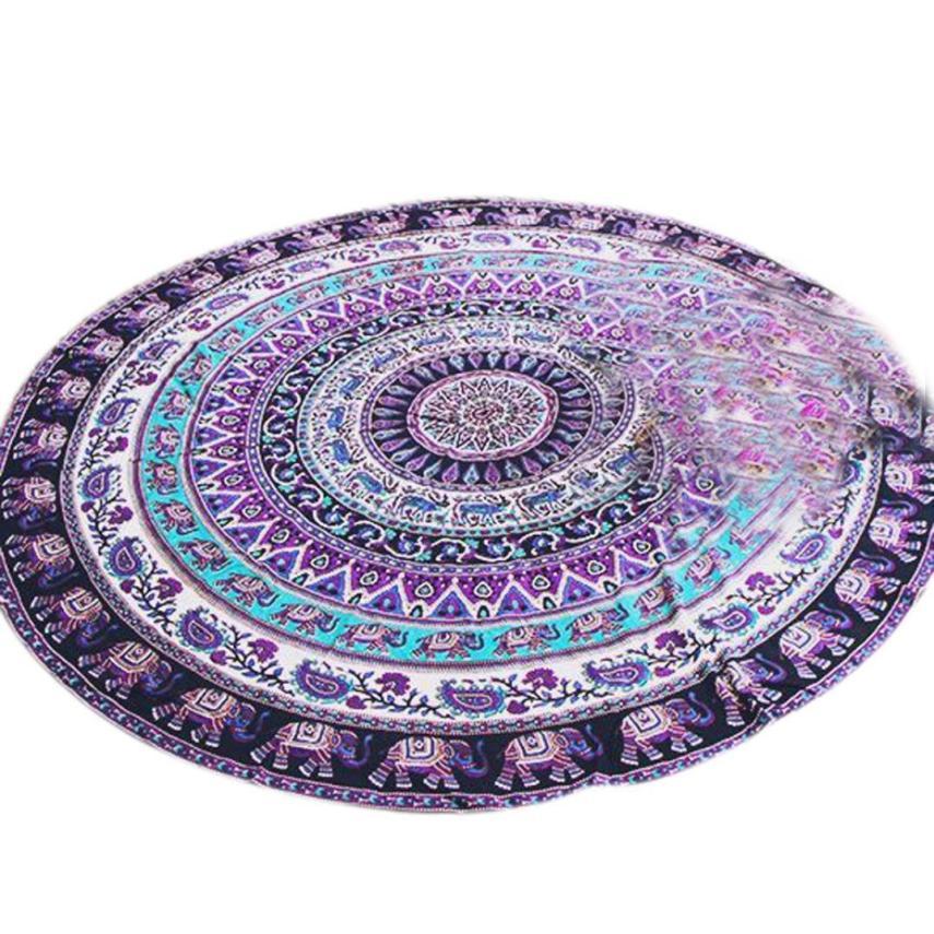 Gajjar Home textiles Round Beach Pool Home Shower Towel Blanket Table Cloth Yoga Mat 4.3