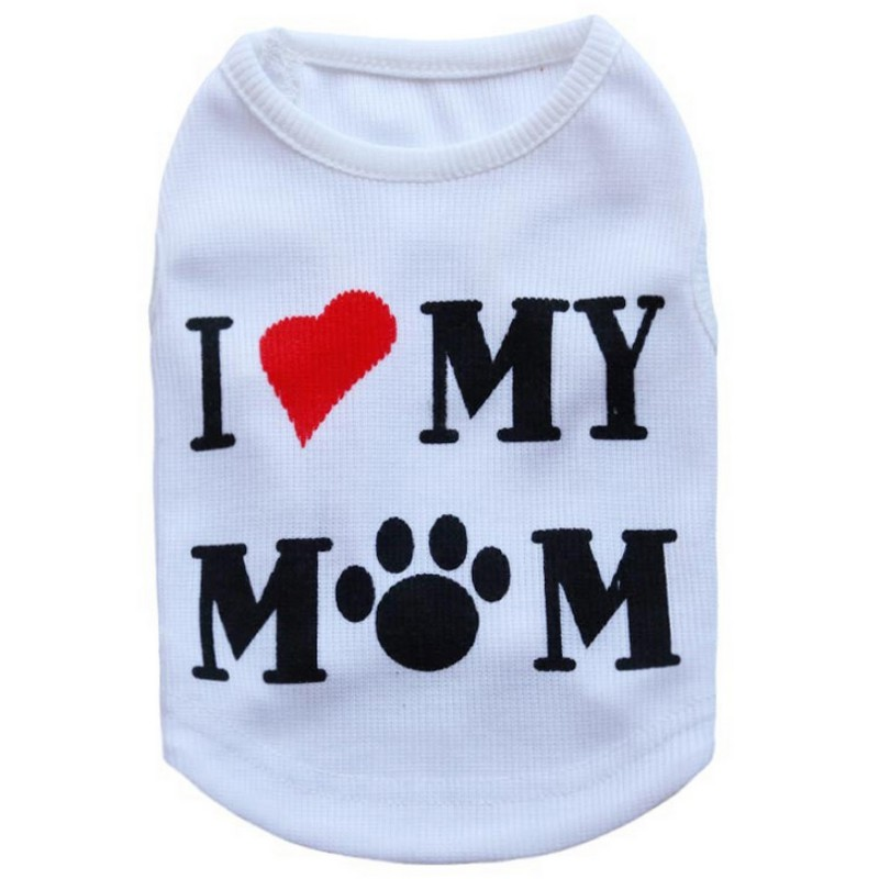 Casual Pet Dog Clothes Puppy Coats Small Dog Hoodies Letter T-shirts For Vest Soft Cat Pajamas Y