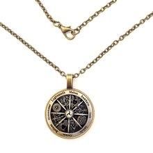 GDRGYB 2019 Zodiac Wicca Pendant necklace Silver Crescent Retro Women Jewelry Men Gift