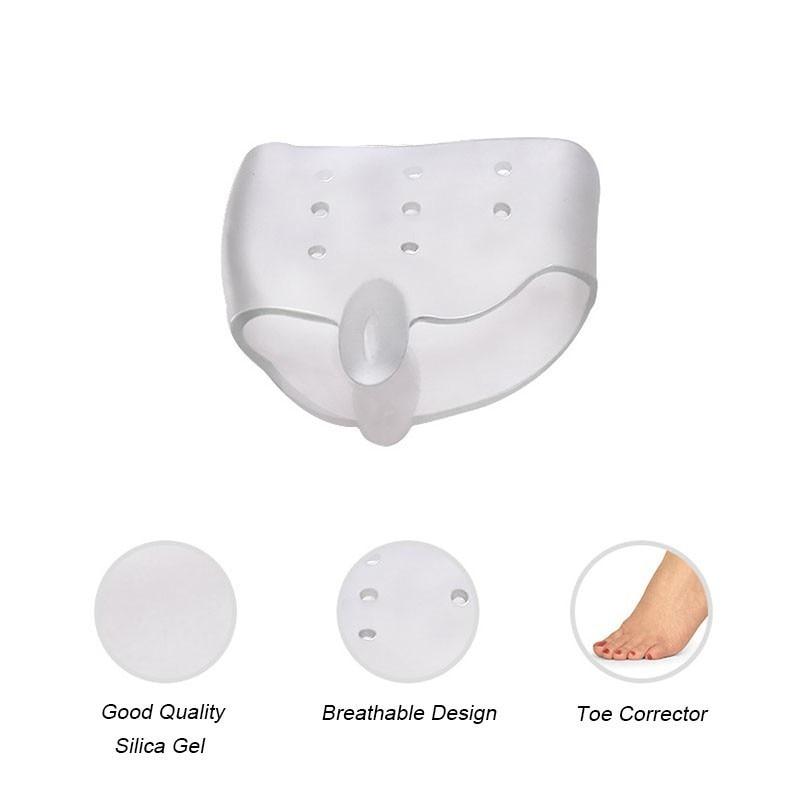 4PCS Reusable Silicone Gel Toe Separator Toe Corrector for Women Hallux Valgus Straighter Feet Care Bunion Stretcher T0480SHD 4