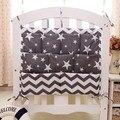 60*50 cm baby bedding sets berço pendurado saco de armazenamento de algodão estampado bedding garrafas fralda do bebê sundries multilayer bolsos saco