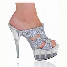 The new low-profile luxury and 15CM crystal heels/sandals/nightclub Dance Shoes