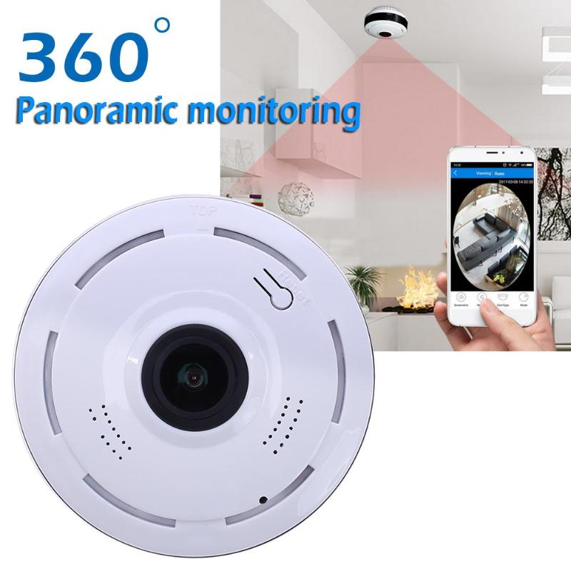 HD 720P Wifi IP Camera Home Security Wireless 360 Degree Panoramic Camera Cloud Storage Night Vision 1.44mm Lens VR Cameras insta360 air 3k hd 360 camera dual lens panoramic camera compact mini vr camera for samsung oppo huawei lg andriod smartphone