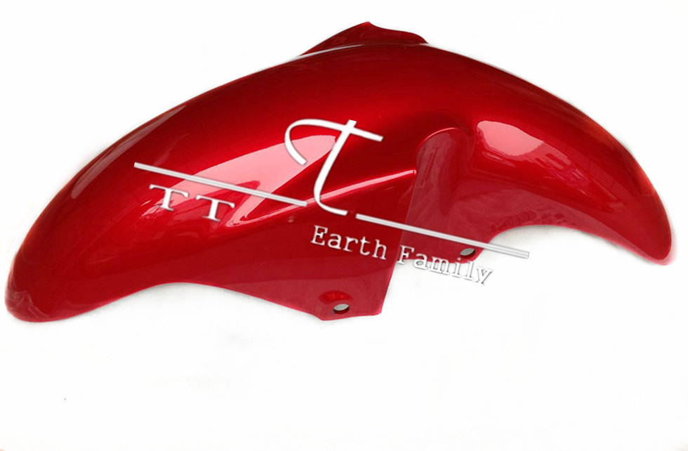 1pc Red Motorcycle Fairing Parts for Yamaha YBR250 Front Fender Mudguard Cover