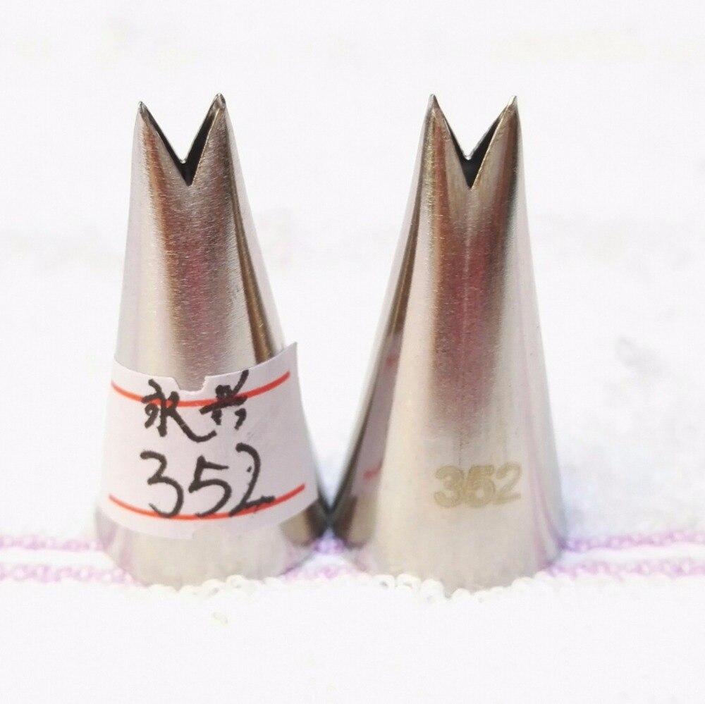 #352 hoja de Corea Del Acero Inoxidable Icing Piping Boquillas Consejos Pasteler
