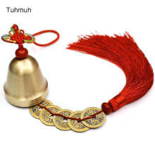 Copper Bell Chinese Knot Feng Shui Hanging Bell For Home or Car