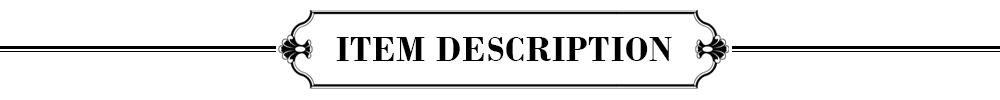 2. DESCRIPTION DE L'ARTICLE