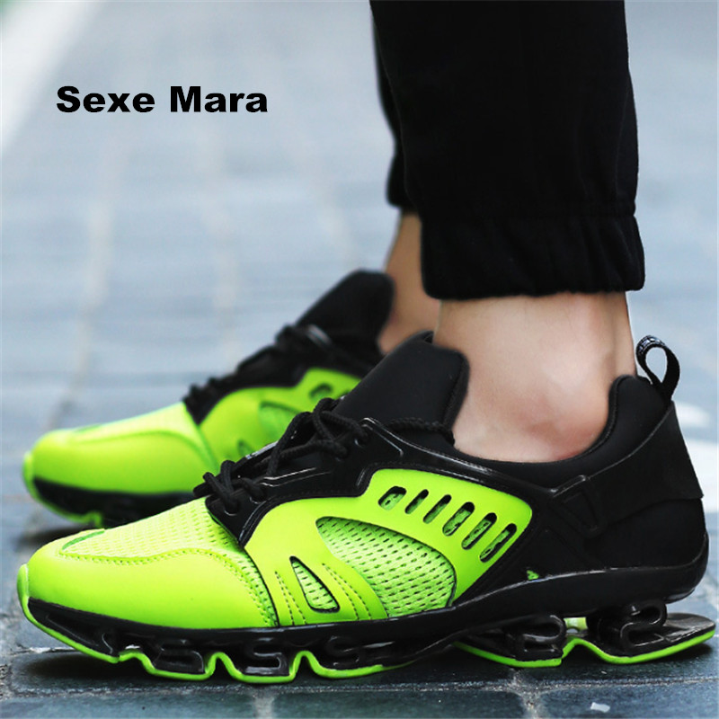 Hot 2017 Wedge Men fashion Blade casual shoes Couple leather Breathable mesh Non slip Climbing shoes