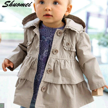 2017 New Baby Girl Warm Autumn Jackets Coats For Girls Toddler Kids Girls Clothes Princess Long Hooded Coat Kids Clothes Coat