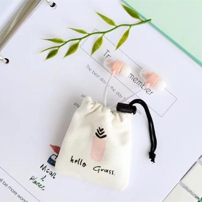 Cute Plants Natural Stereo Earphone Earbuds in ear Ear Phones With Mic Earphone Case for iPhone