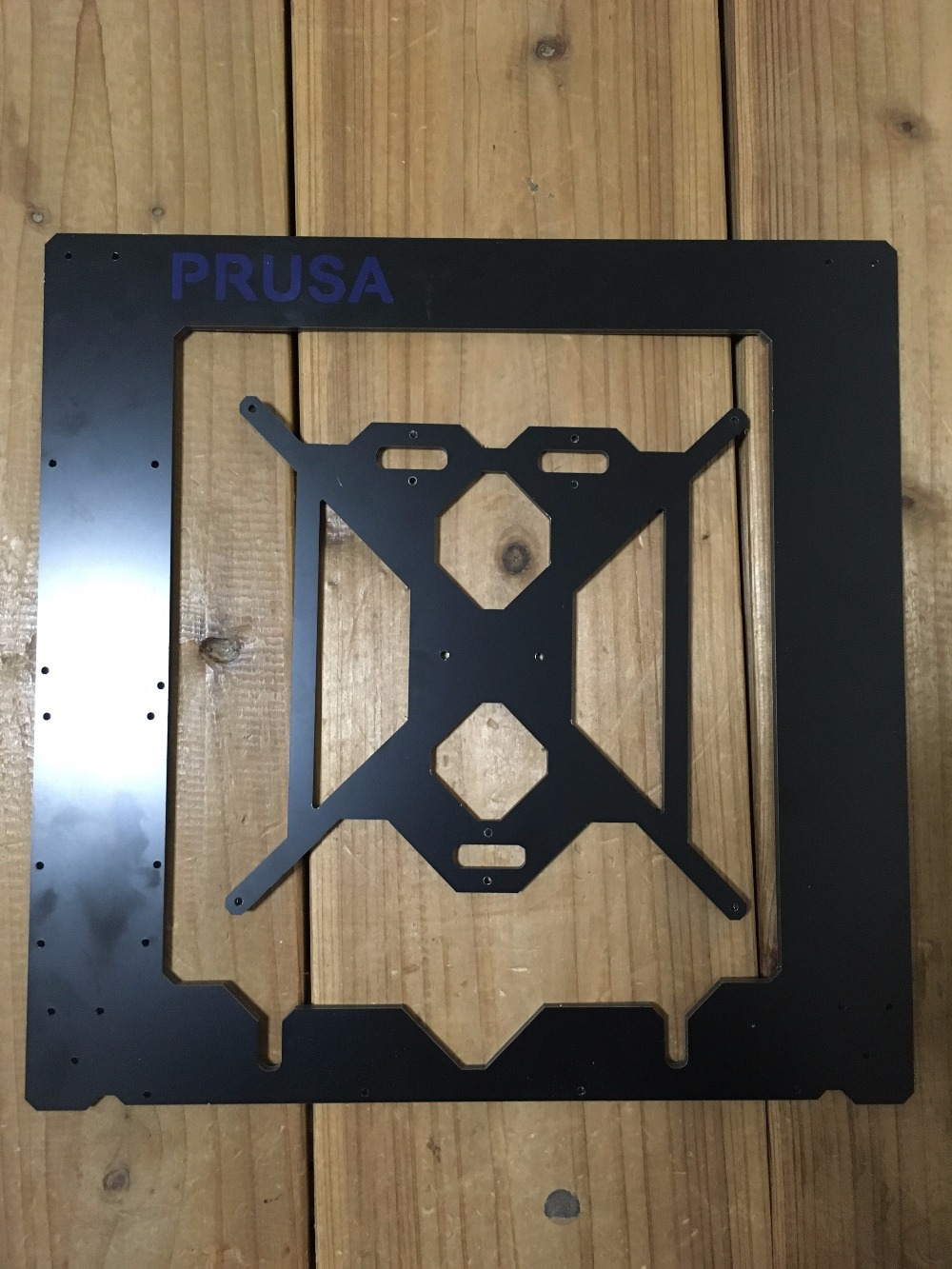 ФОТО Prusa i3 Rework 3D printer aluminum composite frame kit RepRap Prusa i3 black color composite plate frame 3D Printer DIY 6 mm