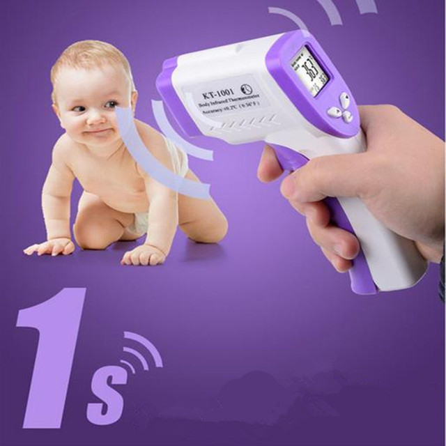 2016 New Baby/Adult LCD Digital Multi-FunctionThermometer Non-contact Infrared Forehead Body Thermometer Gun(No battery) B0031