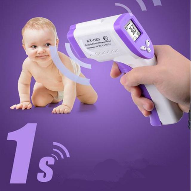 2016 Nuevo Bebé/Adultos Digital LCD Multi-FunctionThermometer Sin contacto Frente Infrarrojo Termómetro Del Cuerpo Arma (No batería) B0031