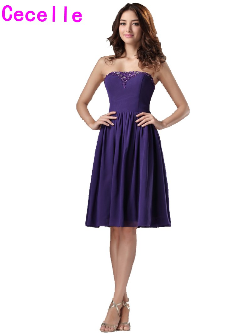 Compare prices on customized bridesmaid dresses online shopping casual purple short beach bridesmaid dresses knee length beaded a line custom made country 2017 ombrellifo Choice Image