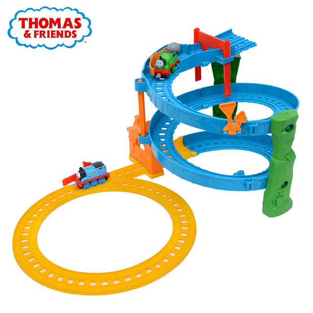 Original Brand Carros Track Model Cars Train Kids Plastic Metal Toy cars and Friends Toys For