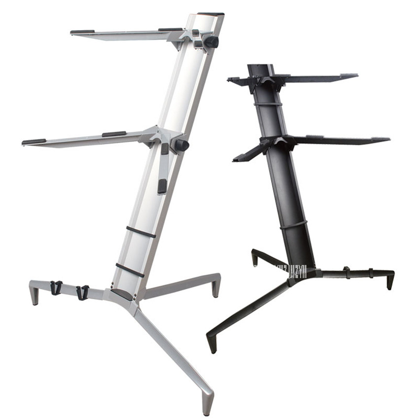 2 Layer Aluminum Alloy Digital Piano Frame Rack Music Stand Holder Height Adjustable Lightweight For Piano Performance KS Series