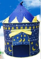 24pcs Lot Lovely Prince And Princess Palace Castle Children Play Tent Toy Indoor Outdoor Blue And
