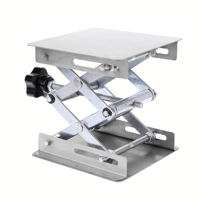 Laboratory Lifting Platform Stand Rack Scissor Jack Bench Lifter Table Lab 100x100mm Stainless Steel For Scientific Experiment