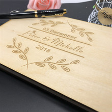Personalized Ever After Flower Wooden Guest Book Custom Bridal Shower Book for Bride Husband Wife Anniversary Newlywed Guestbook free shipping wedding bridal shower birthday personalized with lace and flower decorated guestbook
