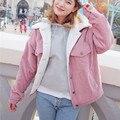 2017 mujeres otoño invierno chaquetas de ropa de algodón acolchado breve párrafo harajuku estudiantes universitarios viento marea engrosamiento capa