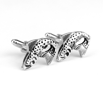 MOCHUN Vintage Antique Silver Color Fish Cuff Links Shirt Brand Cuff Buttons Abotoaduras Gemelos Cufflinks-20 image