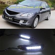Автомобиль мигает 1 комплект для Mazda 6 Mazda6 2008 2009 2010 DRL дневные ходовые огни реле противотуманных фар светодио дный дневной Тюнинг автомобилей