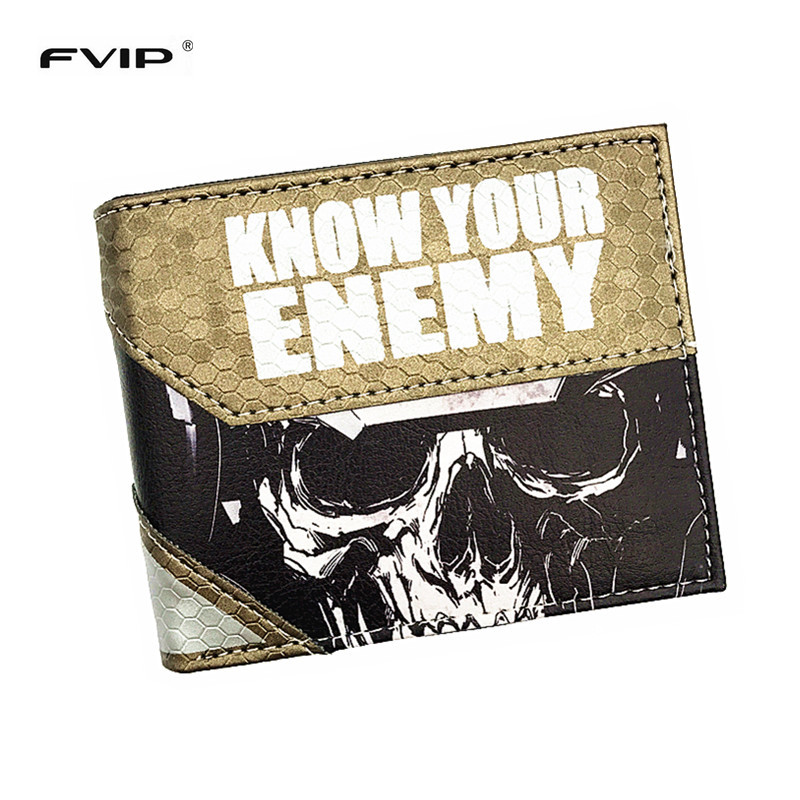 FVIP Free Shipping Hot Game Wallet Call of Duty /Mass Effect/LOL Timor With Coin Pocket New Design Coin Purse For Men and Women lifeboats board game puzzle cards games english chinese edition funny game for party family with free shipping