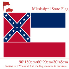 Free shipping Mississippi 150X90CM 60*90CM State Flag 3x5ft Banner 30*45cm Car With Brass Grommets