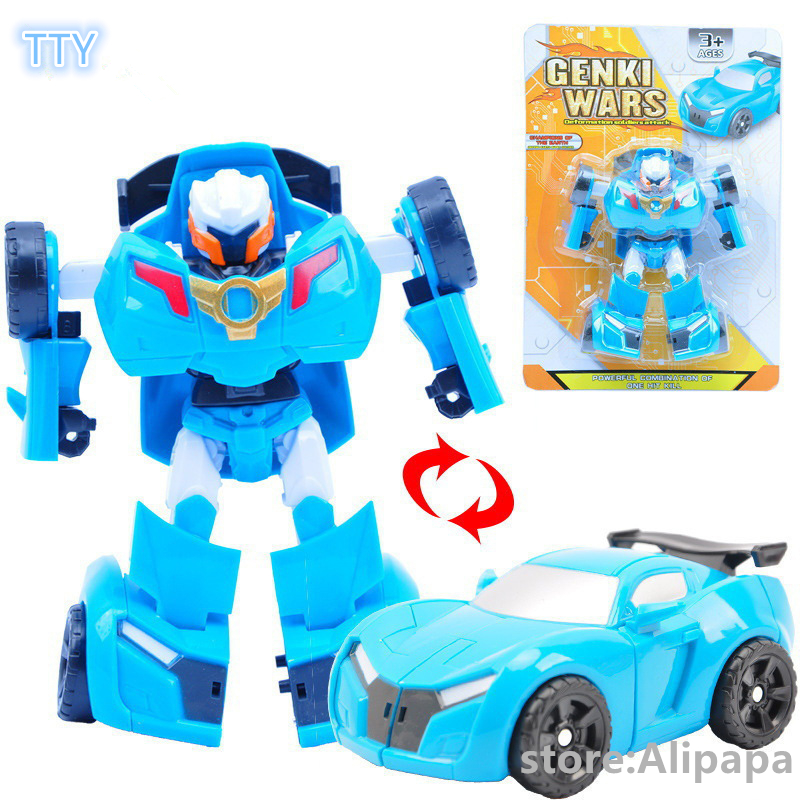 2colors Toboly transformation Robocar cars toy 14cm Korea