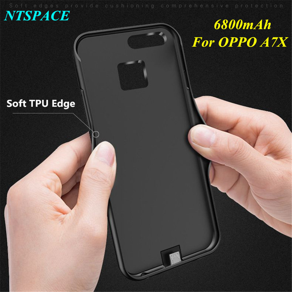 Fashion External Power Bank 6800mAh Battery Charger Case For OPPO A7X Battery Case Ultra Slim Portable