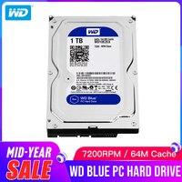 1 ТБ WD Blue 3,5 SATA 6 ГБ/сек. HDD sata Внутренний жесткий диск 64 M 7200PPM настольный жесткий диск для ПК WD10EZEX