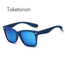 Toketorism New style fashion square sunglasses high quality frame polarized mirror UV400 gafas de sol 7068