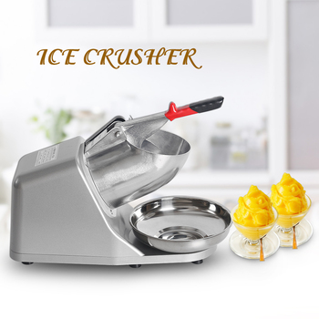 цена ITOP Ice Crusher Smoothie Maker Ice Shaver Machine Electric Semi-automatic Snow Cone Maker Stainless Steel Shaved Ice Machine онлайн в 2017 году