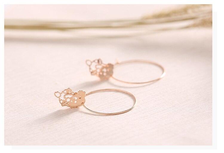 rose gold dog drop silver hoop earrings 05_01
