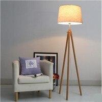 NEW Europe Nordic Wood Fabric Led E27 Floor Lamp for Living Room Bedroom Study Decor Light H 163cm 1709