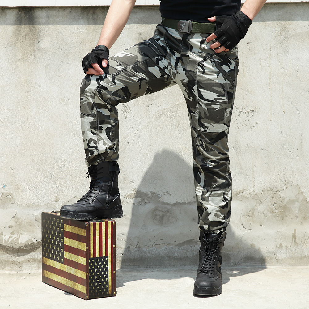 Tactical Military Camouflage Hiking Pants Pantalone Hunting Wear Cargo Overalls Trousers Men Women Army Combat Tactical