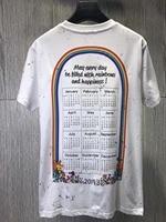 Cotton T shirts 2019 Calendar Rainbow T Shirt Men Women Good Luck Pig Graffiti High Quality Cotton T Shirt